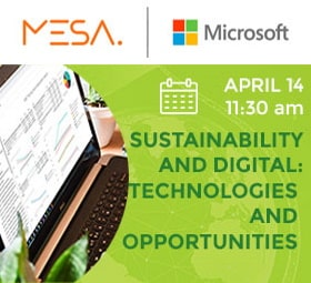 MESA event about the role of technologies and tools available for sustainability in the company