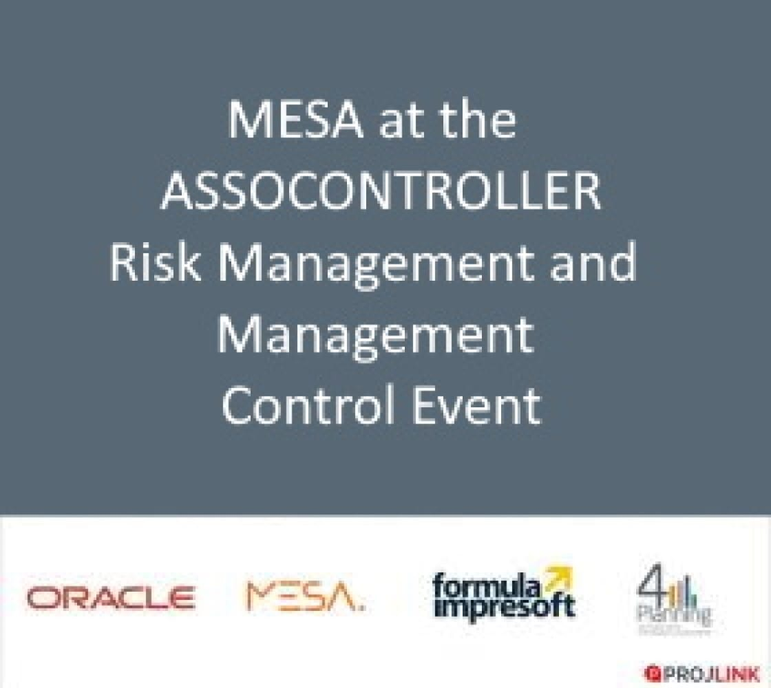 Assocontroller event on Risk Management and management control: MESA among the speakers